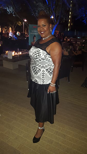 Kathy Jefferson of Blazing Curves loved the plus-size possibilities of Aragon's designs.