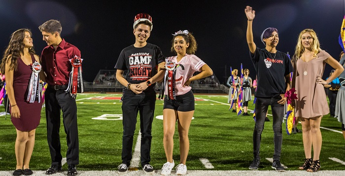 The Maricopa High School Homecoming Court. Photo by William Lange