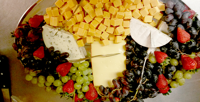 Helen's Kitchen does not have a catering menu per se but tailors its menu to fit the wishes of the wedding party, including cheese-and-fruit trays.  Submitted photo