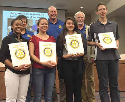 Rotary students of the month for October and November. Photo by Adam Wolfe