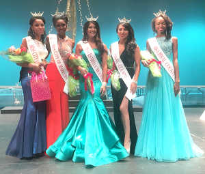 Miss City of Maricopa Outstanding Teen Dimon Sanders, Miss City of Maricopa Aundria Littlejohn, Miss Estrella Mountains Courtney Ortega, Miss Pinal County Payton Patane and Miss Pinal County Outstanding Teen Theodora Baker. Photo by Raquel Hendrickson