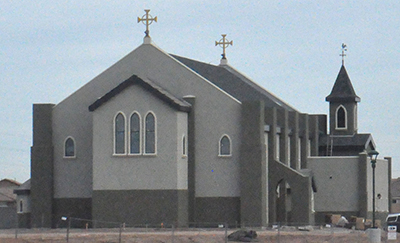 A new church for Our Lady of Grace is under construction.