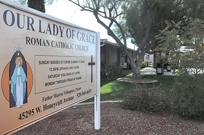 Our Lady of Grace has held Mass at the Honeycutt Avenue building for decades.