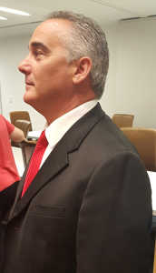 Rich Vitiello in council chambers Tuesday night. Photo by Raquel Hendrickson