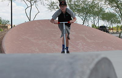 The skate park at Copper Sky. Photo by Misty Newman