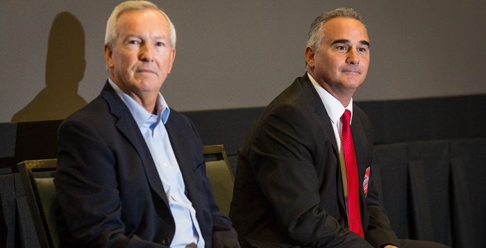 Anthony Smith (left) and Rich Vitiello are running in the Republican primary. Photo by William Lange