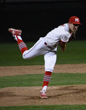 Junior pitcher Carter Paine