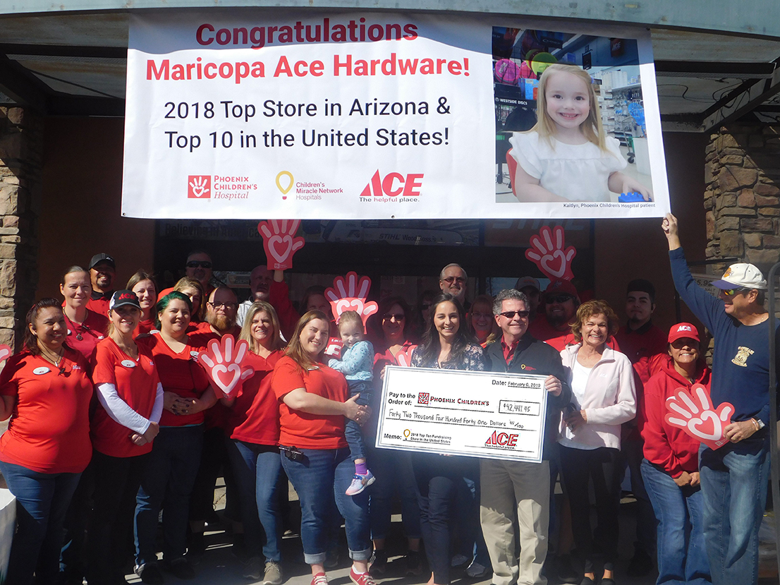 Maricopa Ace 9th in nation raising funds for children's hospitals