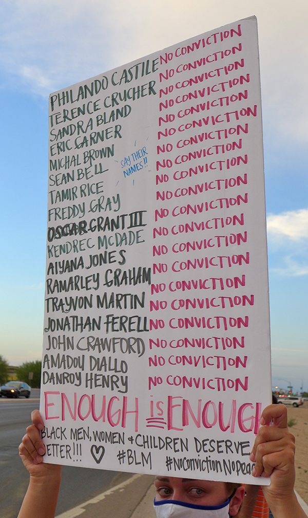 Maricopa Peaceful Protest Sign