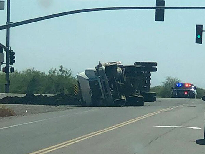 Truck crash SR 347 Riggs