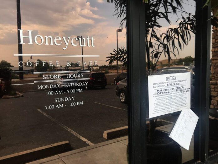 Honeycutt Coffee Liquor License