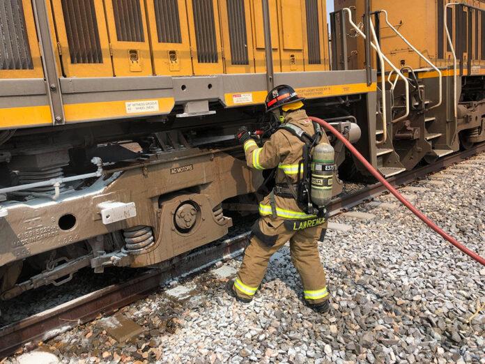 Train fire Maricopa