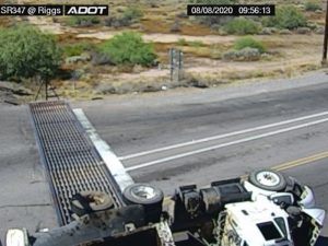 Truck Crash SR 347 ADOT cam