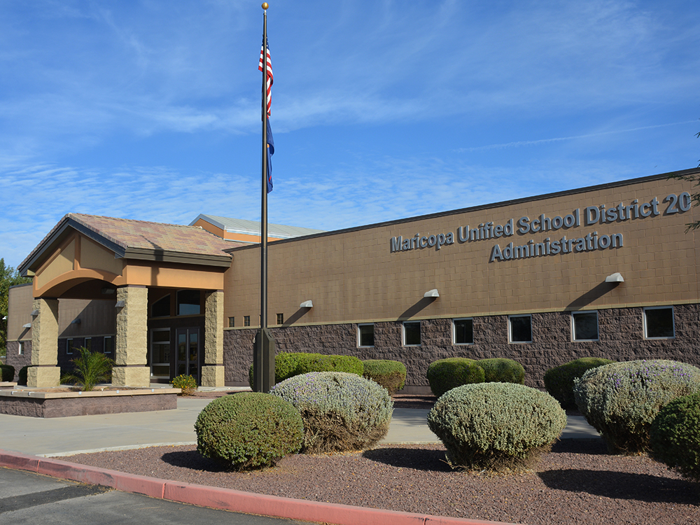 Maricopa Unified School District 20 administration building