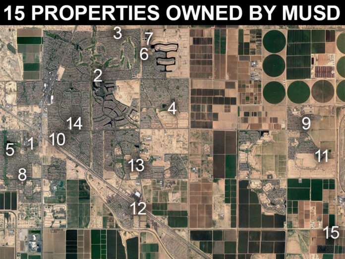 MUSD properties map
